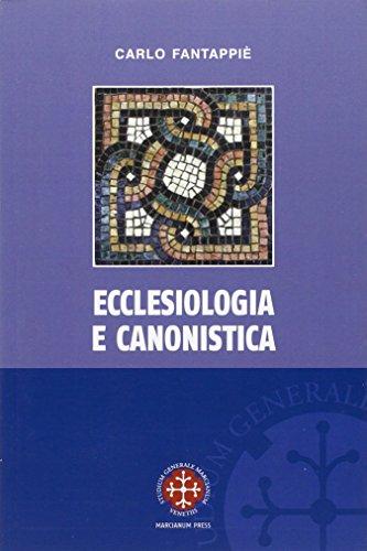 Ecclesiologia e canonistica (Paperback): Carlo Fantappiè