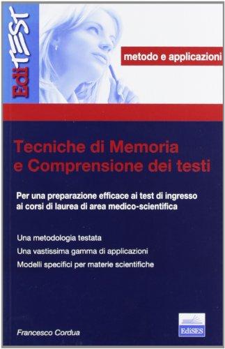 Tecniche di memoria e comprensione dei testi.: Francesco Cordua