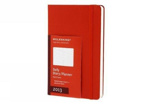 9788866131120: Moleskine Red Large Daily Diary / Planner 2013 Calendar