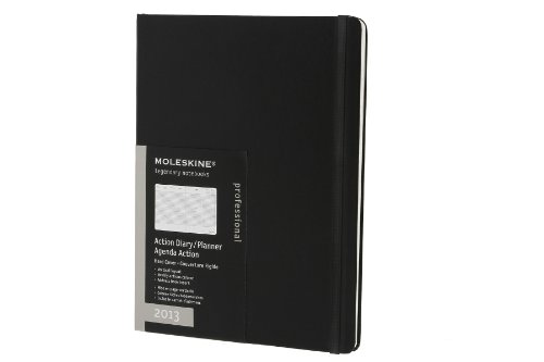 Moleskine 2013 Action Planner, 12 Month, Extra Large, Black, Hard Cover (7.5 x 10) (Planners & ...