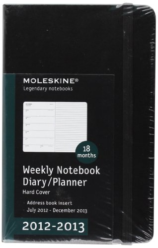 9788866131342: Moleskine 2012-2013 Weekly Planner, 18 Month, Pocket, Black, Hard Cover (3.5 x 5.5) (Planners & Datebooks)