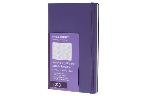 9788866131915: Moleskine 2013 Weekly Planner, Horizontal, 12 Month, Large, Bright Violet, Hard Cover (5 x 8.25) (Planners & Datebooks)