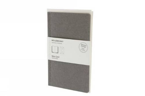 9788866132424: Moleskine Note Card With Envelope - Large Pebble Grey (Moleskine Messages)