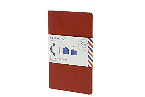 Moleskine Moleskine Messages Postal Notebook, Pocket, Plain, Cranberry Red, Soft Cover: Moleskine