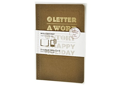 Moleskine Ornament Note Cards A Happy Holiday Large (Moleskine Messages): Moleskine
