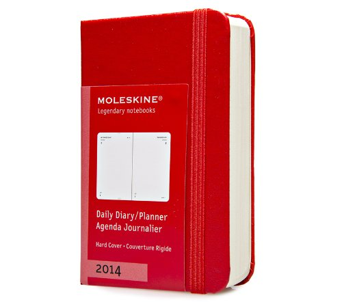 9788866135517: Moleskine Extra Small 12 Months 2014 Daily Diary - Red (Moleskine Diaries)