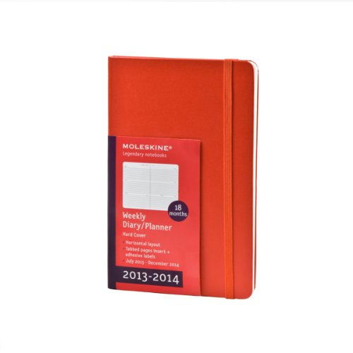9788866135876: Moleskine 2013-2014 Weekly Planner, Horizontal, 18 Month, Pocket, Red, Hard Cover (3.5 x 5.5) (Planners & Datebooks)