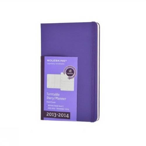 9788866136682: Moleskine 2013-2014 Turntable Planner, 18 Month, Large, Weekly, Brilliant Violet, Hard Cover (5 x 8.25) (Planners & Datebooks)