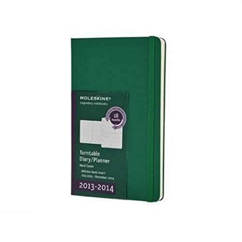 9788866136705: Moleskine 2013-2014 Turntable Planner, 18 Month, Large, Weekly, Oxide Green, Hard Cover (5 x 8.25) (Planners & Datebooks)