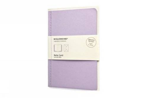 9788866136897: Moleskine Note Card With Envelope - Large Persian Lilac (Moleskine Messages)