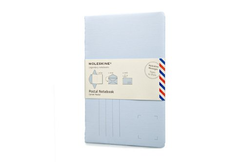 9788866136927: Moleskine Postal Notebook Iris Blue