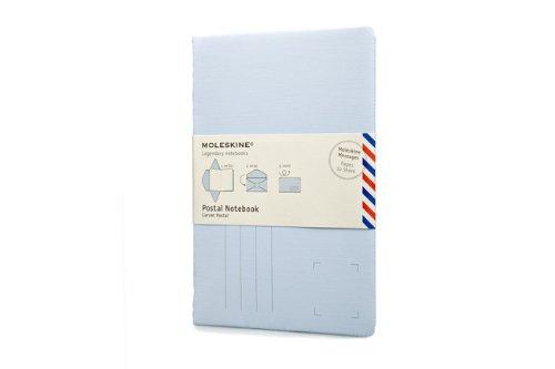 Moleskine Messages Postal Notebook, Pocket, Plain, Iris: Moleskine