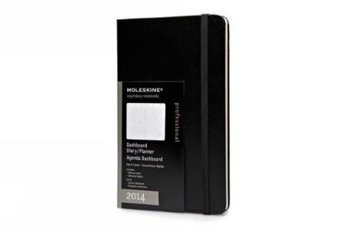 Moleskine 2014 Dashboard Planner, Vertical, 12 Month, Large, Black, Hard Cover (5 x 8.25) (Planners...