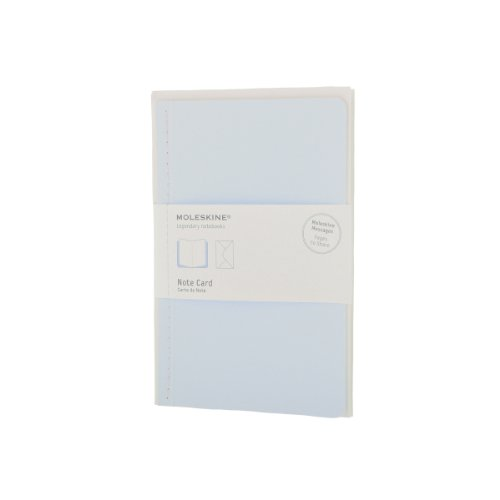 Pack de 12 Cartes de Note+Envelop Gd Ft Bleu Pastel: Moleskine