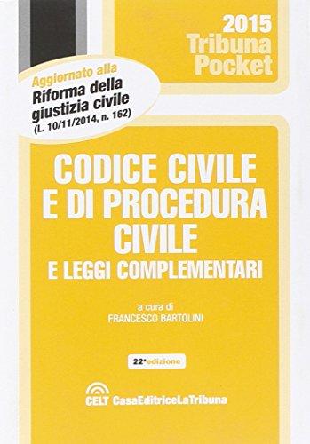 9788866896173: Codice civile e di procedura civile e leggi complementari (Tribuna pocket)