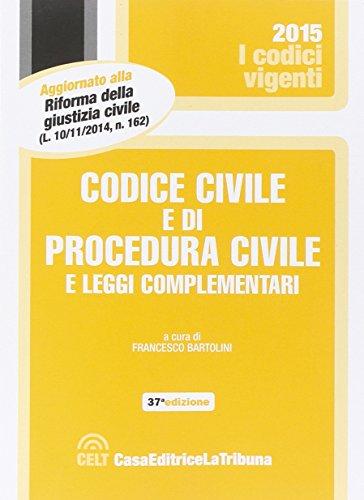 9788866896197: Codice civile e di procedura civile e leggi complementari (I codici vigenti)