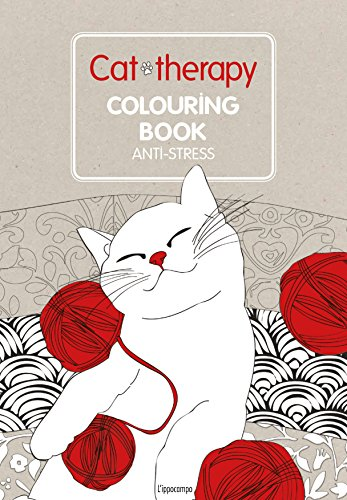 9788867221448: Cat therapy. Colouring book anti-stress