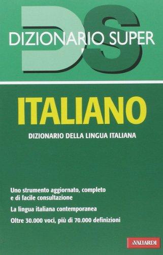 9788867314409: Dizionario italiano (Dizionario Super)