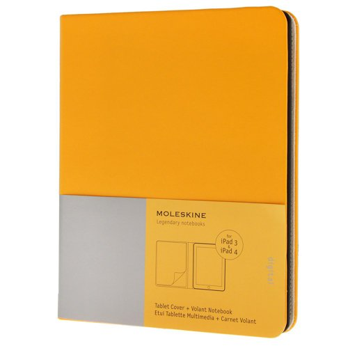 9788867321070: Ipad 3 and 4 Moleskine Golden Yellow Slim Digital Cover with Notebook (Moleskine Digital Covers)