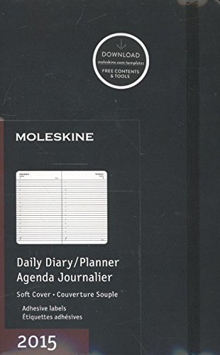Moleskine 2015 Daily Planner, 12 Month, Large, Black, Soft Cover (5 x 8.25) (Moleskine Diaries): ...