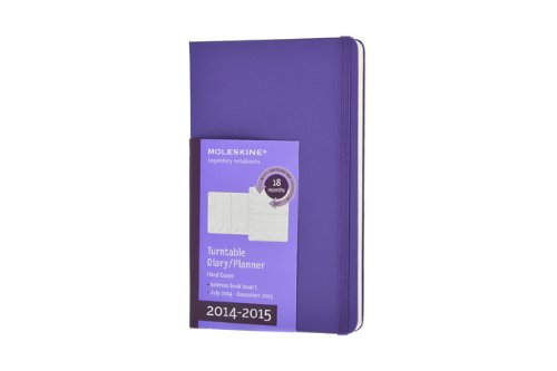 9788867322930: Moleskine 2014-2015 Turntable Weekly Planner, 18M, Large, Brilliant Violet, Hard Cover (5 x 8.25) (Moleskine Diaries)