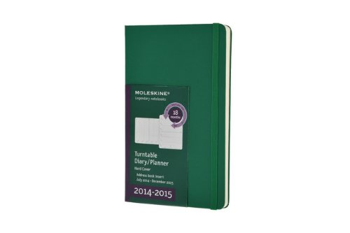 Moleskine Agenda Semanal. Tamaño grande. 2014-2015 (color verde)