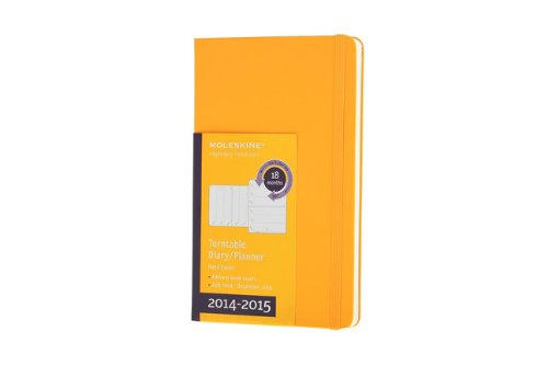 9788867322961: Moleskine 2014-2015 Turntable Weekly Planner, 18M, Large, Orange Yellow, Hard Cover (5 x 8.25) (Moleskine Diaries)