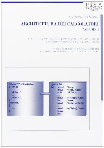 9788867410804: Architettura dei calcolatori: 1 (Didattica e Ricerca. Manuali)