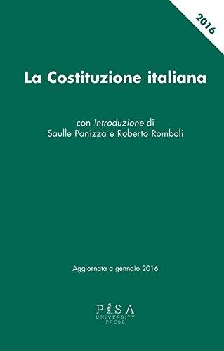 9788867416127: La Costituzione italiana aggiornata a gennaio 2016