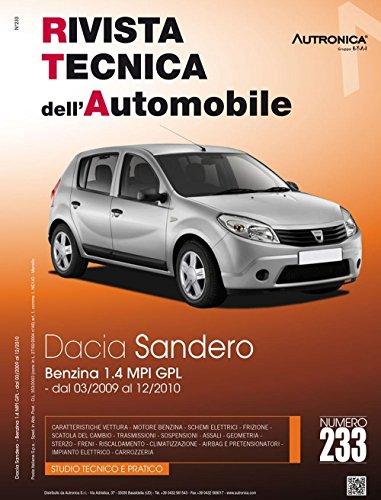 9788867840380: Dacia Sandero 1.4 MPI GPL (Rivista tecnica dell'automobile)