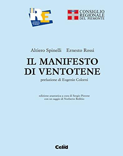 9788867890804: Il manifesto di Ventotene (rist. anast.)