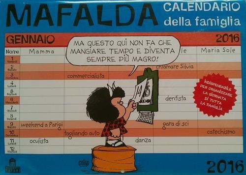 9788868215354: Mafalda che stress! Calendario famiglia 2016
