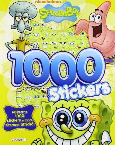 9788868370176: 1000 stickers. SpongeBob. Con adesivi