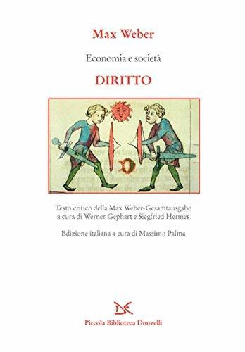 9788868434595: Economia e società. Diritto (Piccola Biblioteca Donzelli)