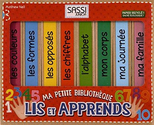9788868601652: Ma petite bibliothèque - Lis et apprends : Coffret en 8 volumes : Les couleurs ; Les formes ; Les opposés ; Les chiffres ; L'alphabet ; Mon corps ; Ma journée ; Ma famille