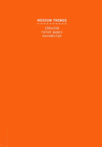 9788868780203: Medium Things Notebook, Orange: Ruled Pages