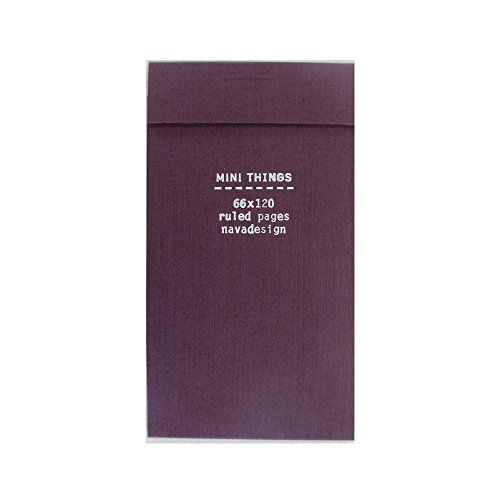 9788868780449: Mini Things Notebook, Wine: Ruled Pages