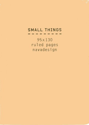 9788868780470: Small Things Notebook, Kraft: Ruled Pages
