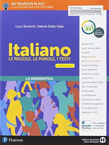 9788869104190: Italiano. Le regole, le parole, i testi. Italiano. Ediz. light. Per la Scuola media. Con e-book. Con espansione online