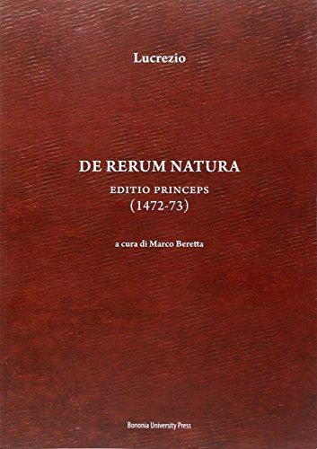9788869230660: De rerum natura. Editio princeps (1472-73)