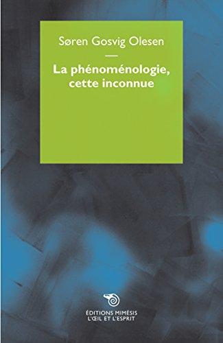 9788869760259: La phénoménologie, cette inconnue