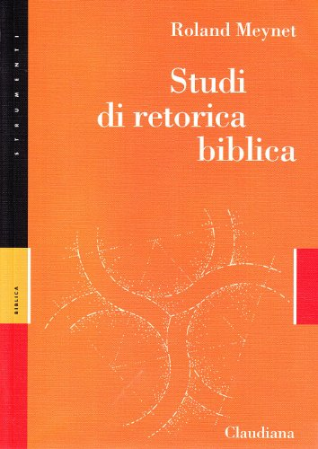 9788870167443: Studi di retorica biblica