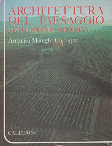 9788870191981: Architettura del paesaggio: Evoluzione storica (Italian Edition)