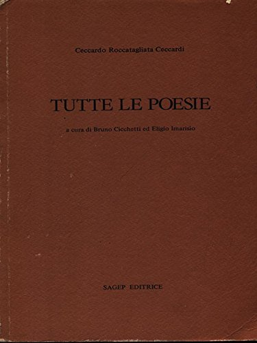 9788870580464: Tutte le poesie (Italian Edition)