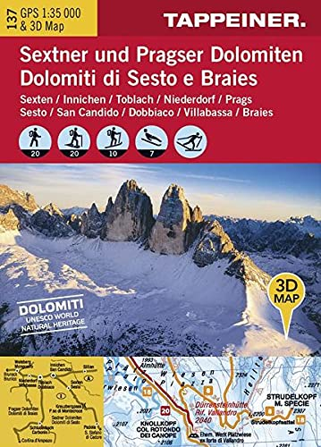 Winter Wonderland Dolomiti di Sesto e Braies. Sesto, San Candido, Dobbiaco, Villabassa... Carta ...