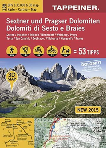 9788870737066: Sextner und Pragser Dolomiten 3D, Wanderkarte. Dolomit di Sesto e Braies