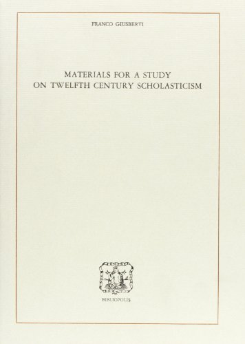 9788870880557: Materials for a Study on Twelfth Century Scholasticism