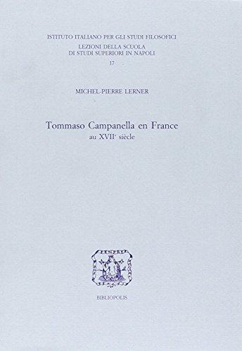 Tommaso Campanella en France au XVIIe siècle.: Lerner,Michel Pierre.
