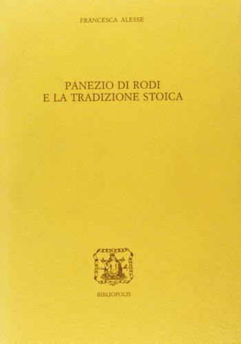 9788870883589: Panezio di Rodi e la tradizione stoica (Elenchos) (Italian Edition)