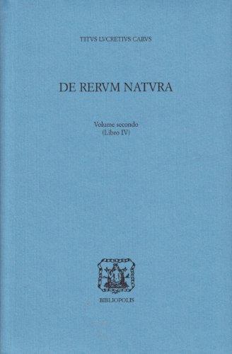 9788870884692: De rerum natura. Testo latino a fronte: 2 (La scuola di Epicuro)